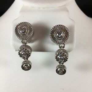 Judith Ripka Sterling and CZs earrings